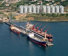 Новый зерновой терминал в порту
