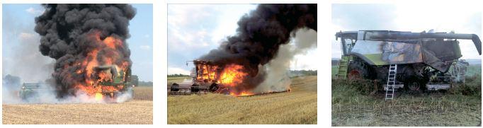 Чому горять трактори та комбайни