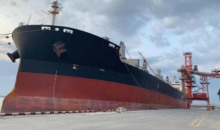 Термінал EVT вперше завантажив зерном судна класу Supramax
