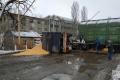 В Миколаєві вагон із зерном протаранив зерновий причеп
