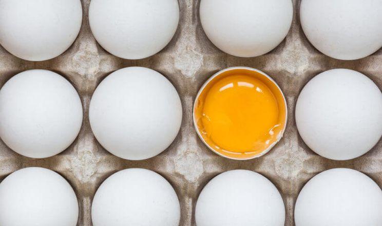 Через переохолодження яєць може з'явитися «гумова» текстура жовтка