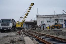 В Маріупольському МТП прокладають залізничну гілку до нового зернового комплексу