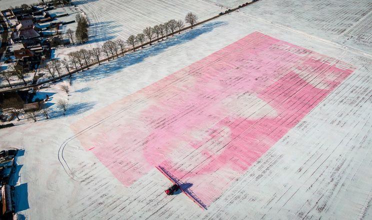 Точний обприскувач Agrifac намалював на полі картину на 1,7 га