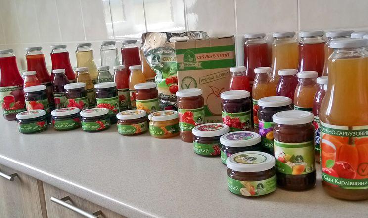 «Сади Карлівщини» переробляють яблука на соки прямого віджиму та джеми