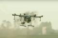 Вітчизняний агродрон Flying tractor удобрив по листу ягідну плантацію